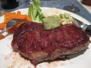 Entrecote steak at L'Aigle Folgensbourg