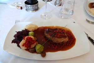 venison with cranberries A L'Ange Leymen