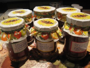 Sue's marmalade just put up in pots