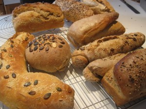 home-made breads from Sue Style's bread workshop