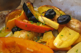 Roast veggies with citron confit by Sue Style