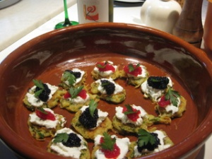 latkes with lumpfish roe by Sue Style