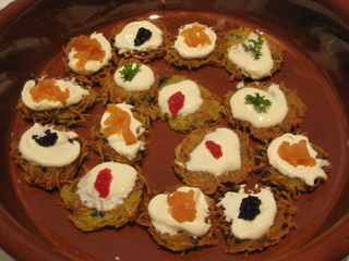 mini-rostis with 'caviar' by Sue Style