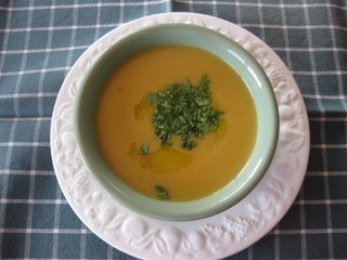root soup with coconut milk by Sue Style
