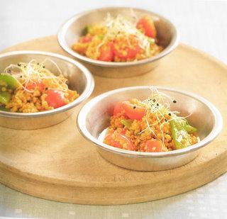 tibits bulghur salad with coco beans