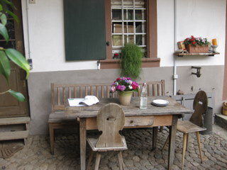 the courtyard at Weingut Ziereisen