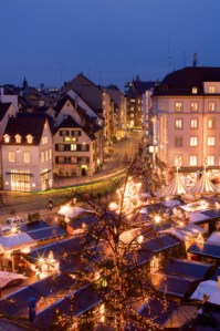 Christmas market on Barfüsserplatz, copyright Basel Tourismus