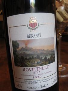 Benanti wine, Etna Sicily