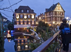 Petite Venise, Colmar, at Christmas, copyright Tourist Office Colmar