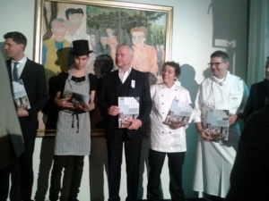 Some of the chefs in Basel Geht Aus who provided the launch food