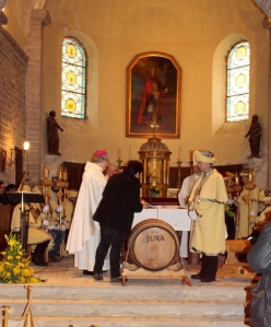 The bishop of Saint Claude blesses the new season's vin jaune