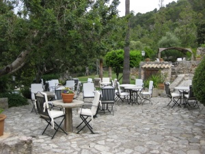 Breakfast on the terrace at Finca Es Castell