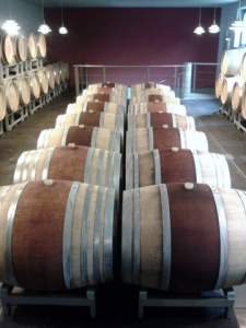 French oak barrels for red wine