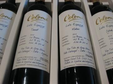 Colomé bottles