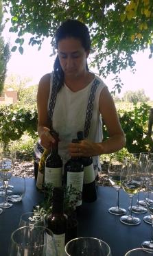 Sofia Pescarmona with a selection of Lagarde bottles