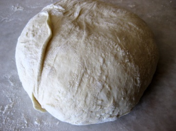 invert the dough and roll it round and round to make a nice ball - don't worry if there's a bit of an extra fold (mine stuck to the banneton)