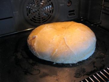 loaf after 15 minutes @ 250C