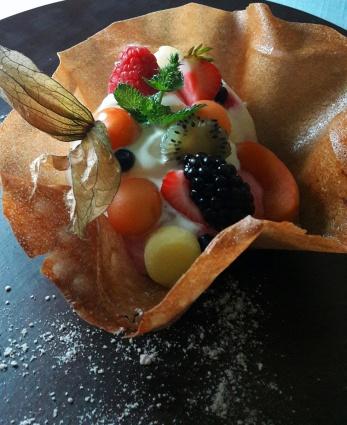 fruit sorbets in brik