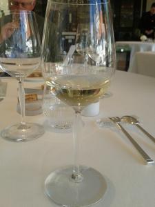 wine glass, Villa René Lalique, copyright Sue Style