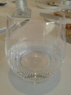 water glass, Villa René Laliqe copyright Sue Style