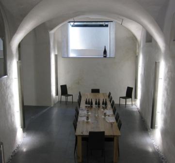 The tasting cellar chez Donatsch, Malans