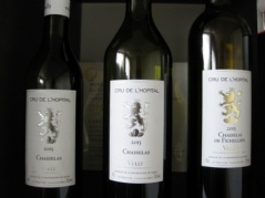 Selected Cru de l'Hopital wines