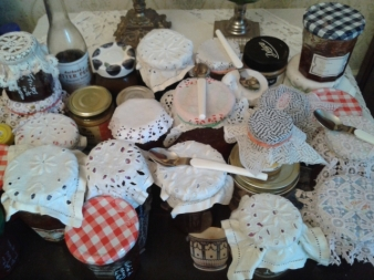A selection of Nathalie's home-made jams photo Sue Style