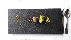 Volcanic chocolate dessert