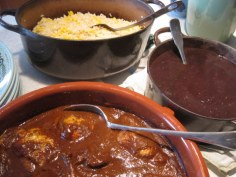 mole, beans and rice-1