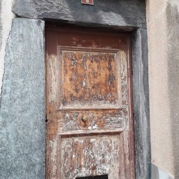 Doorway in the old town of Sion, Switzerland's oldest inhabited settlement